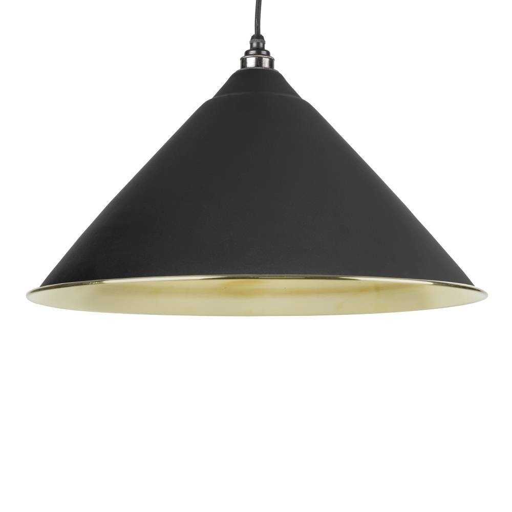 From The Anvil Black & Smooth Brass Hockley Pendant