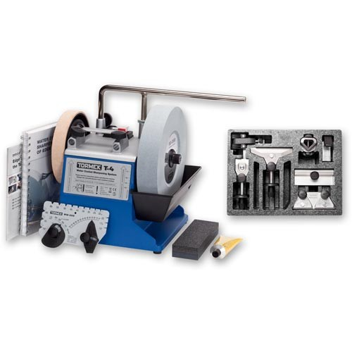 Tormek T-4 Water Cooled Sharpening System with HTK-706 Hand Tool Kit
