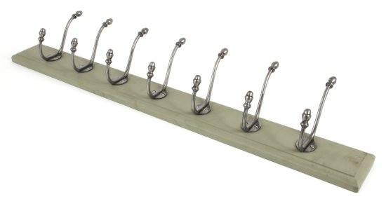 From The Anvil Farmhouse Hat & Coat Rack - Natural Smooth & Olive Green