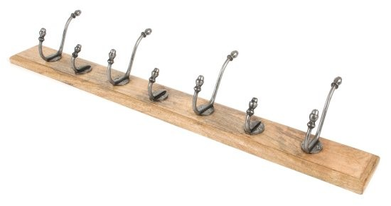 From The Anvil Country Hat & Coat Rack - Natural Smooth & Timber
