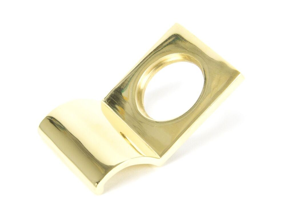 From The Anvil Polished Brass Rim Cylinder Pull