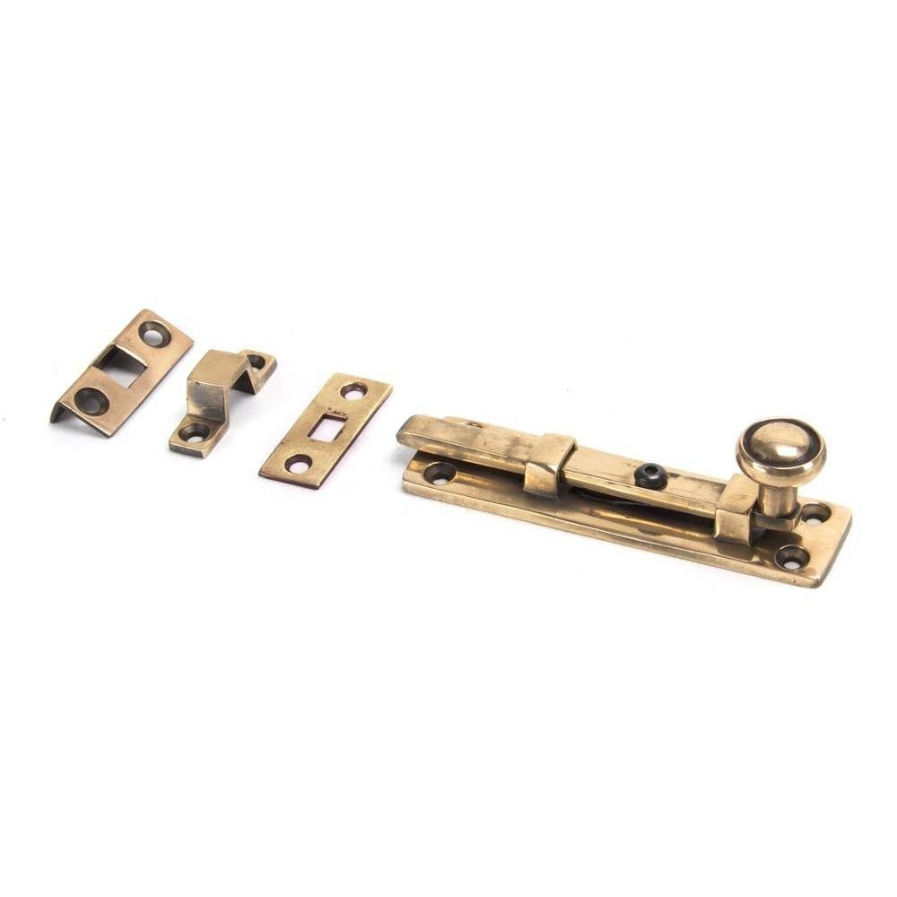 """From The Anvil Polished Bronze 4"""" Universal Knob Bolt"""