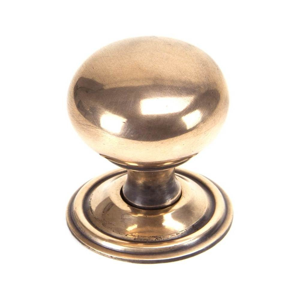 From The Anvil Polished Bronze Mushroom Cabinet Knob - Large