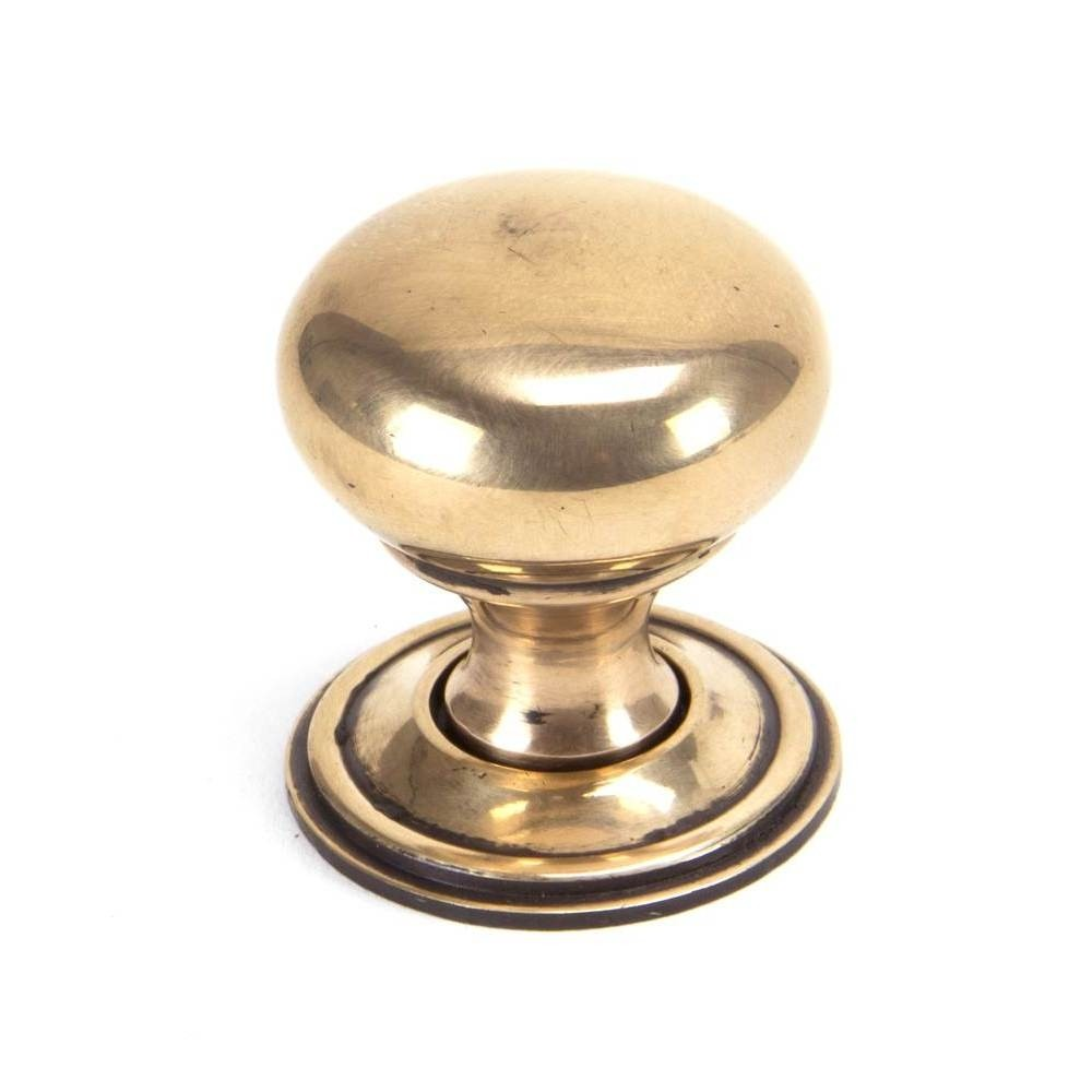 From The Anvil Polished Bronze Mushroom Cabinet Knob - Small