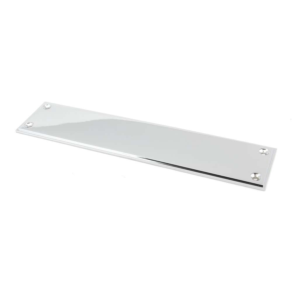 From The Anvil Polished Chrome 300mm Art Deco Fingerplate