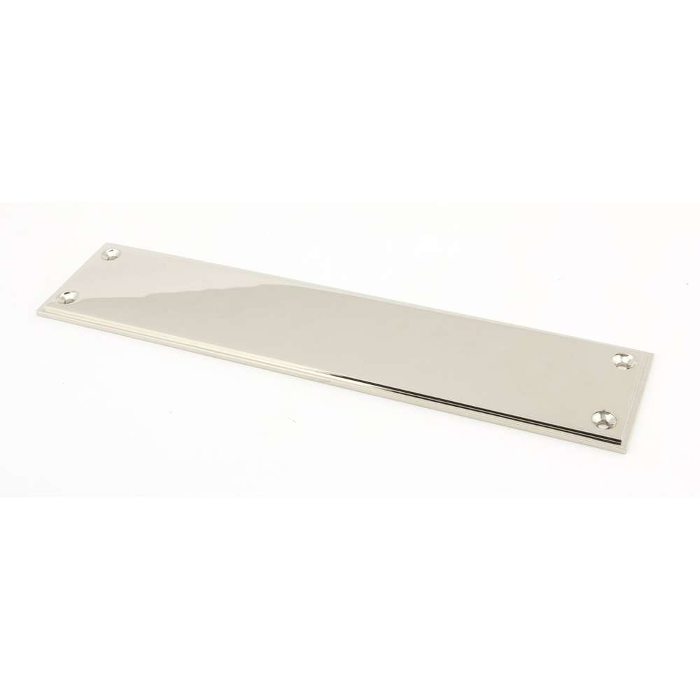 From The Anvil Polished Nickel 300mm Art Deco Fingerplate