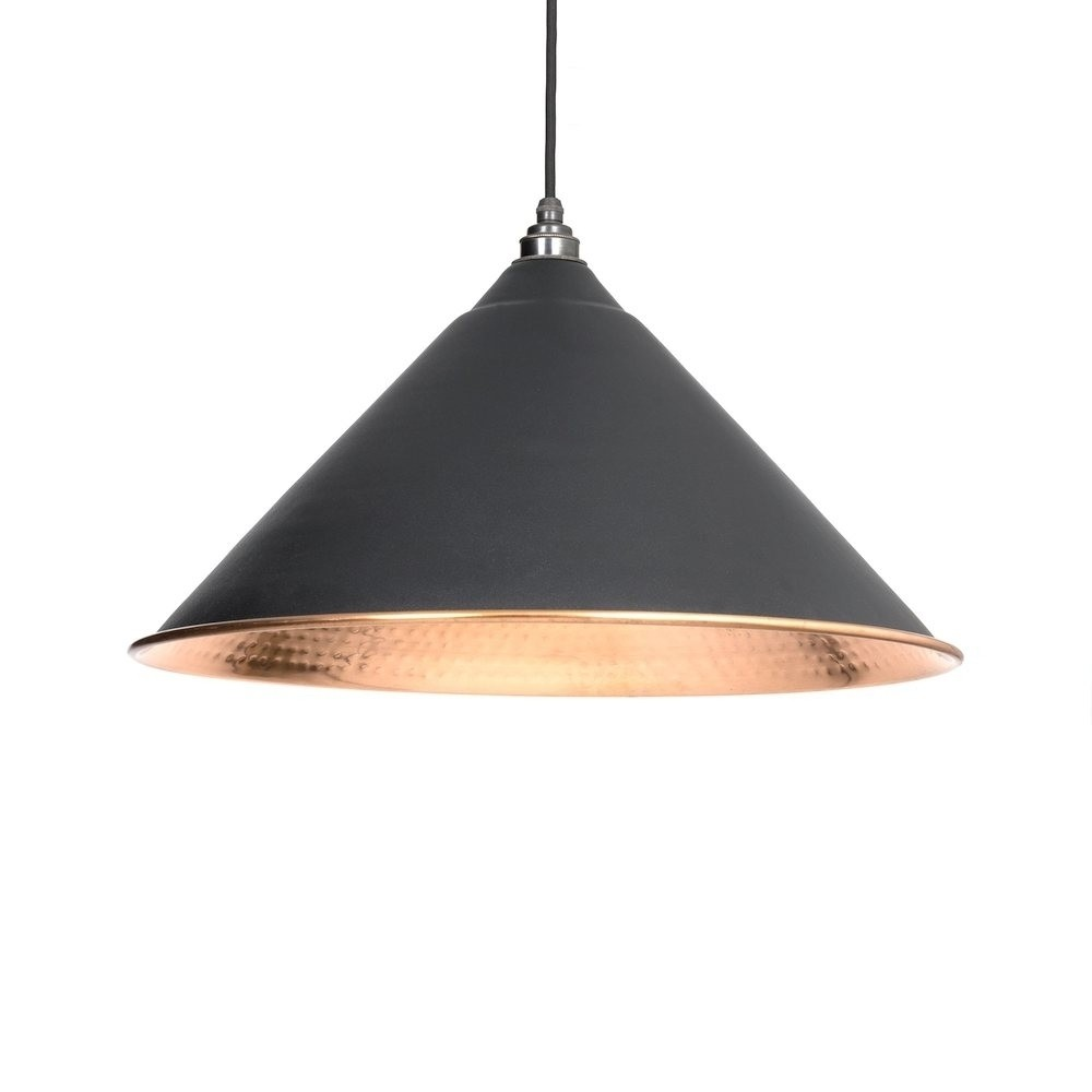 From the Anvil Black Hammered Copper Hockley Pendant