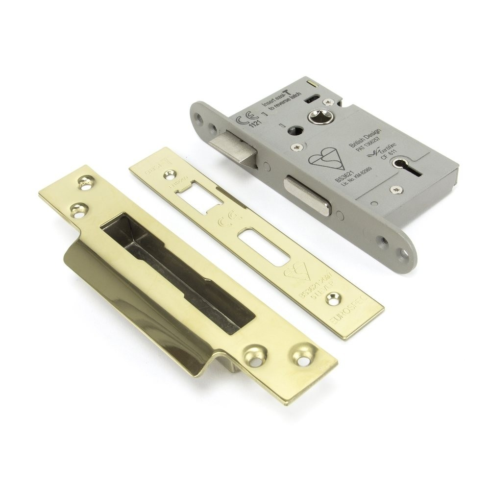 """From the Anvil PVD 3"""" BS Heavy Duty BS Sash Lock"""