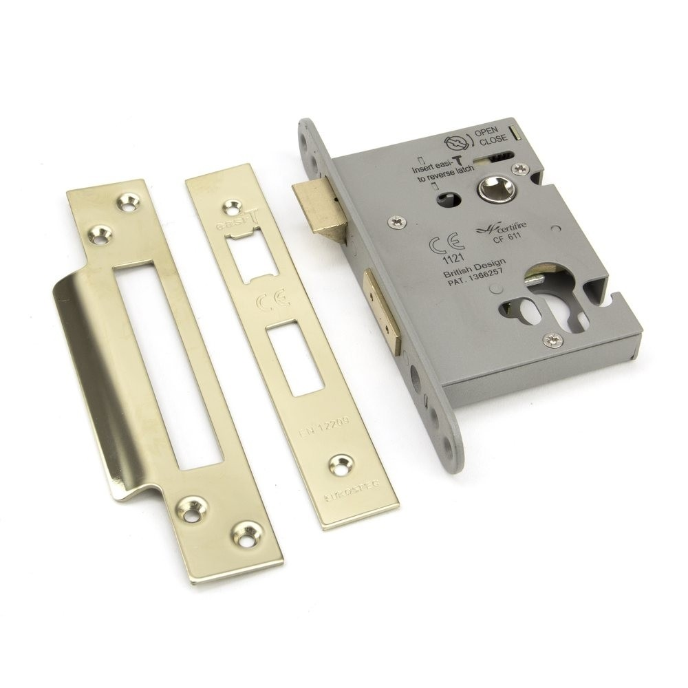 """From the Anvil PVD 3"""" Euro Profile Sash Lock"""
