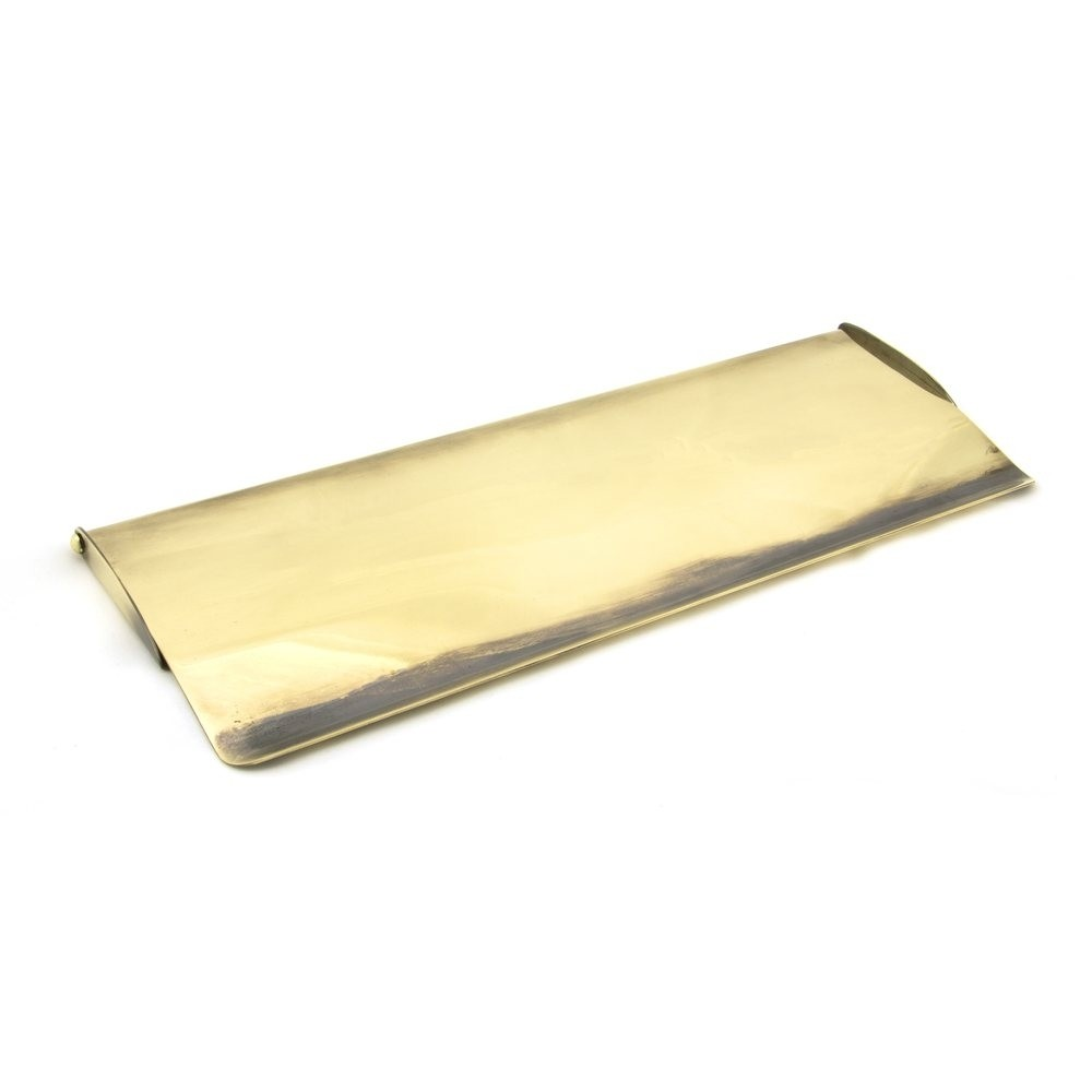 From the Anvil Aged Brass Large Letter Plate Cover