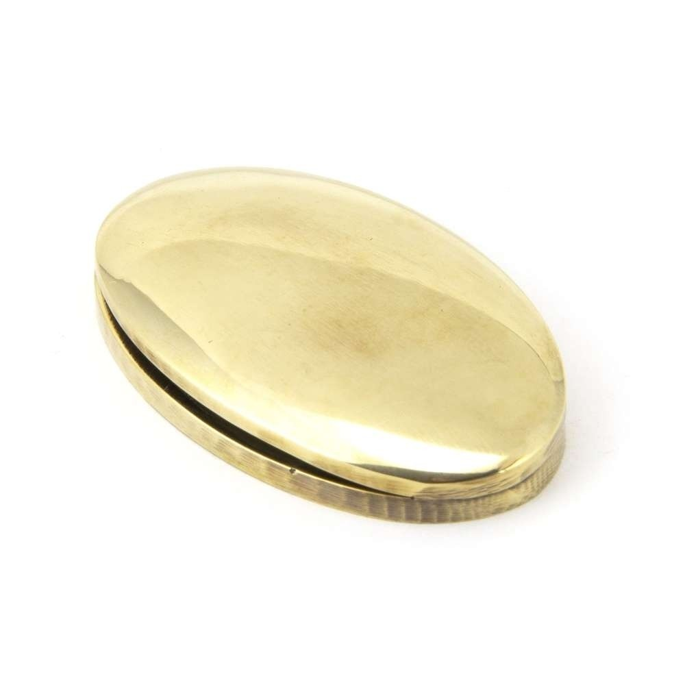 From The Anvil Aged Brass Oval Escutcheon & Cover