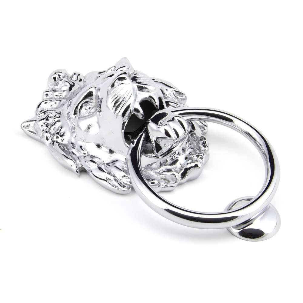 From The Anvil Polished Chrome Lion Head Knocker