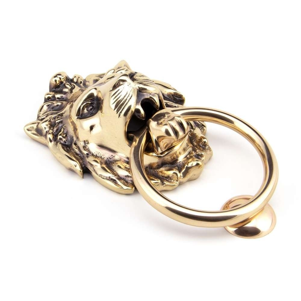 From The Anvil Polished Bronze Lion Head Knocker