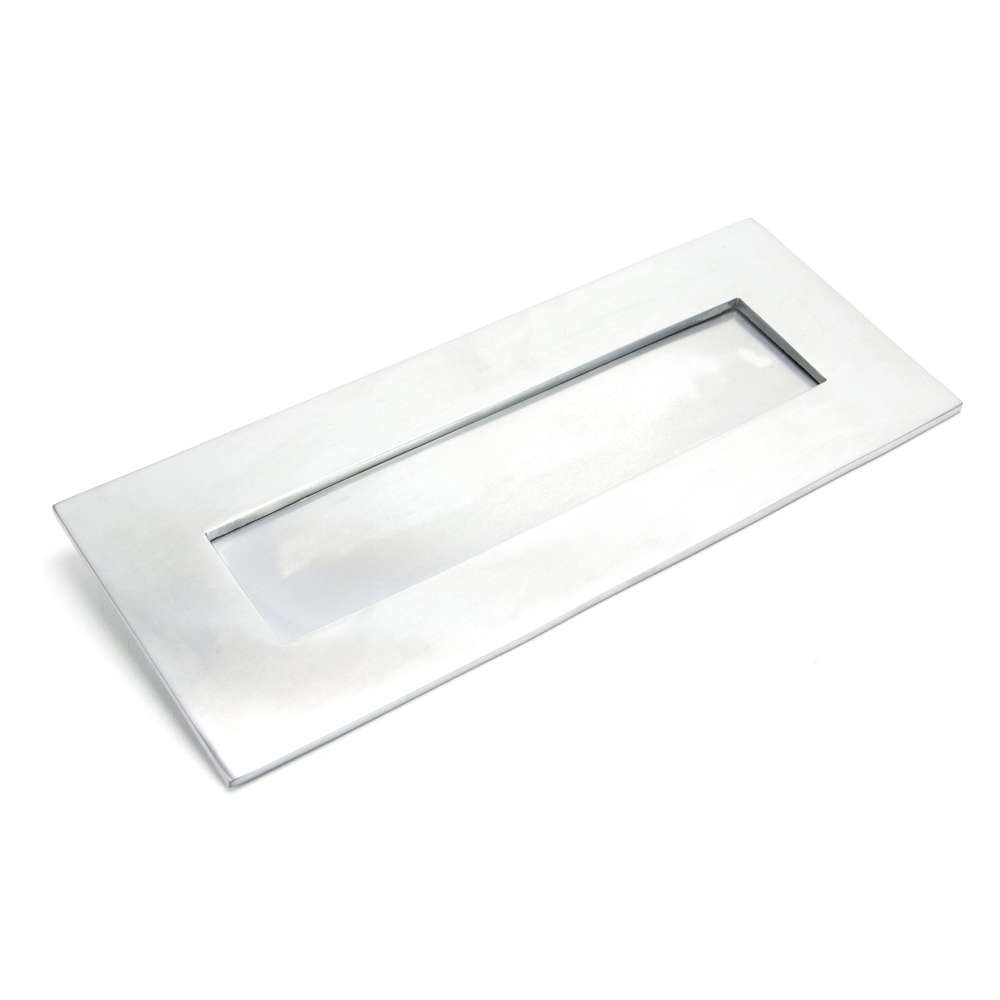 From The Anvil Satin Chrome Small Letter Plate