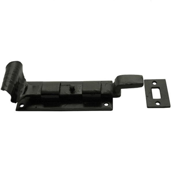 From the Anvil Black Cranked Cupboard Bolt 4 inch