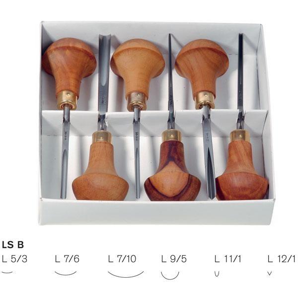 Set  of 6 Pfeil Linoleum and Block cutters PF-LSB