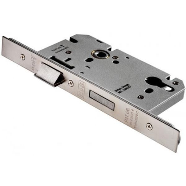 From The Anvil Satin Stainless Steel Euro DIN Sash Case 2 60mm Backset with 72mm centres.