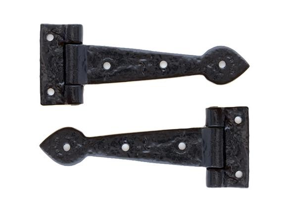From The Anvil Black 6'' Antique T Hinge (pair)