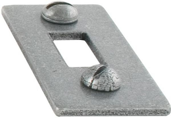 """From The Anvil Pewter Patina Receiver Plate For 6"""" Cranked Bolt"""
