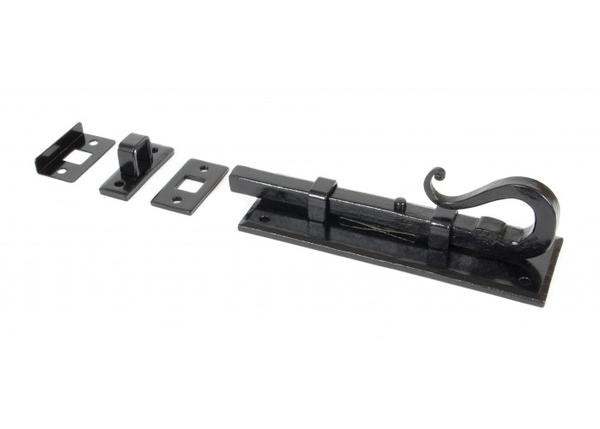 """From The Anvil 6"""" Shepherds Crook Universal Bolt - Black"""