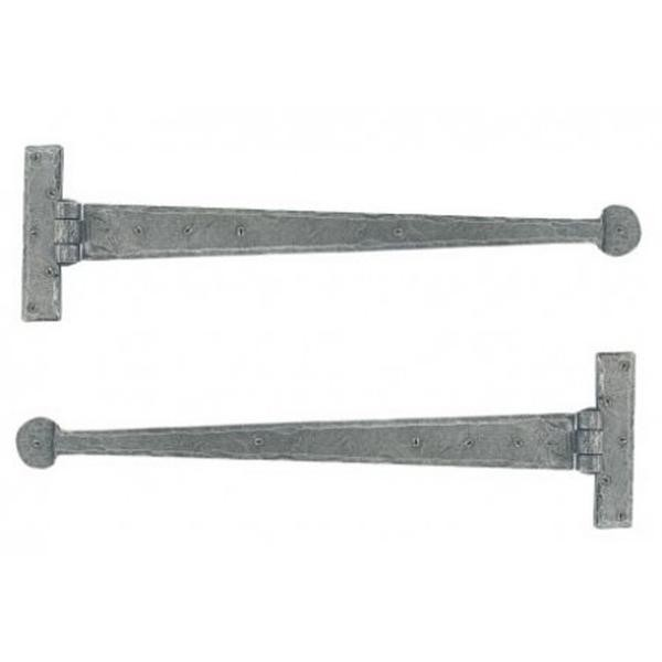 From the Anvil Pewter Patina T Hinge 22inch (pair)
