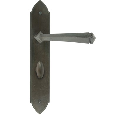 From the Anvil Beeswax Unsprung Gothic Bathroom Lever Handle Set
