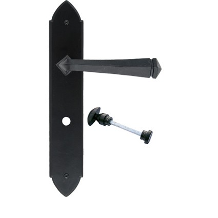From the Anvil Black Unsprung Gothic Bathroom Lever Handle Set