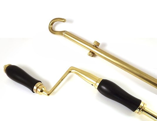From The Anvil Polished Brass Telescopic Window Winder 1-2m