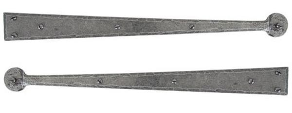 "From The Anvil Pewter Patina Handmade Hinge Front 18"" (pair)"