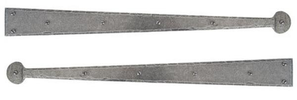 "From The Anvil Pewter Patina Handmade Hinge Front 24"" (pair)"