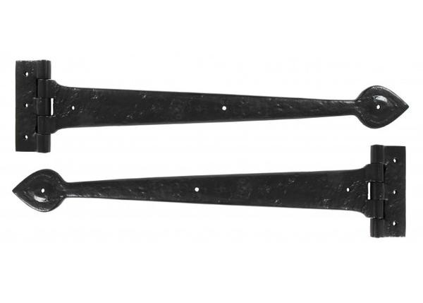 "From The Anvil Antique T Hinge 18"" (pair) - Black"