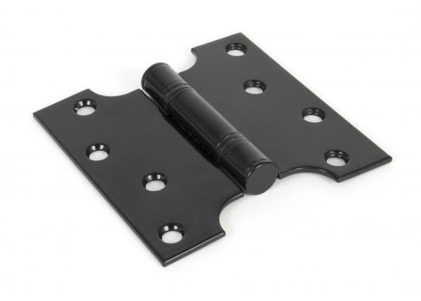 "From The Anvil 4"" x 2"" Ball Bearing Parliament Hinge SS (pair) - Black"