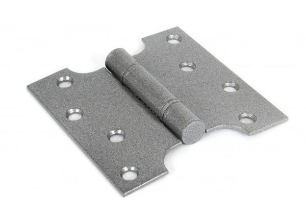 """From The Anvil 4"""" x 2"""" Ball Bearing Parliament Hinge SS (pair) - Pewter"""
