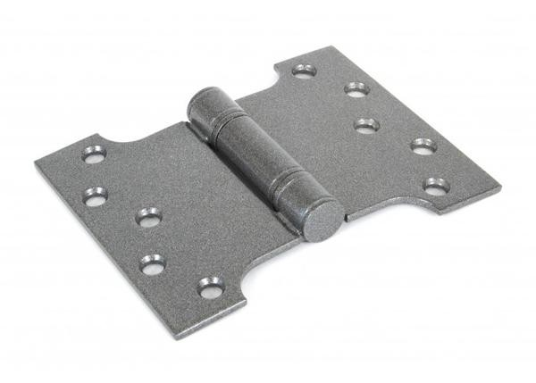 """From The Anvil 4""""x3"""" Ball Bearing Parliament Hinge SS (pair) - Pewter"""