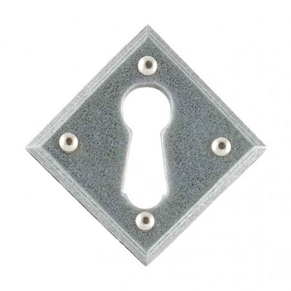 From The Anvil Pewter Patina Diamond Escutcheon