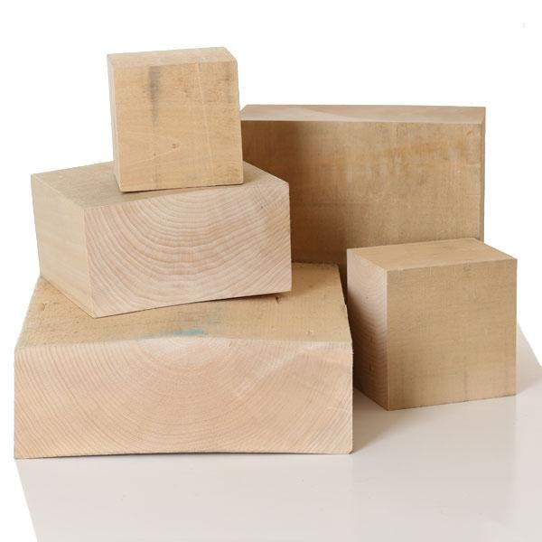 Lime Carving Blanks, 100mm thick, Sawn, Square