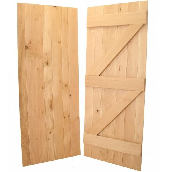 European Oak Ledged and Braced Internal Door