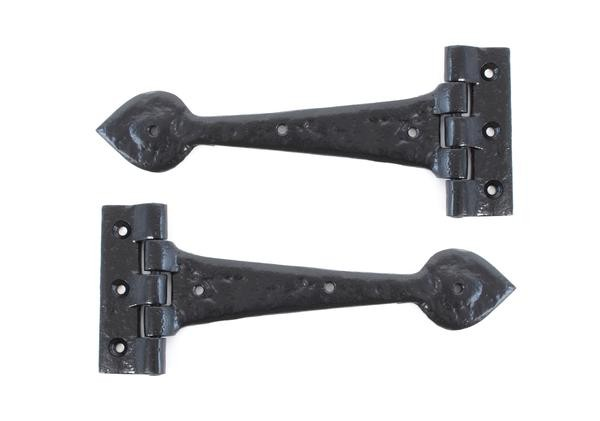 From The Anvil Black 10 1/2'' Antique T Hinge (pair)