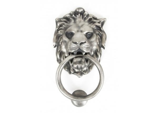 From The Anvil Lion's Head Door Knocker - Antique Pewter