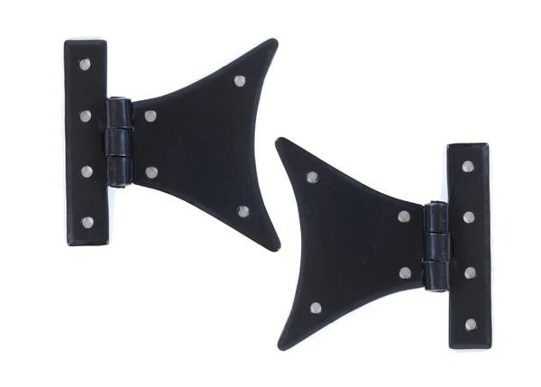 From The Anvil Black 3 1/4'' Half Butterfly Hinge (pair)