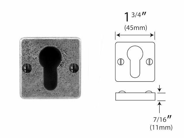 Finesse Euro Keyhole Escutcheon Jesmond range