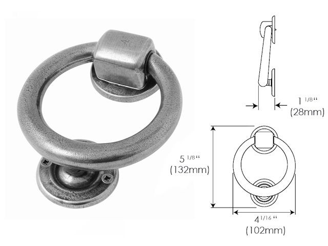 Finesse Solid Pewter Door Knocker (four piece)