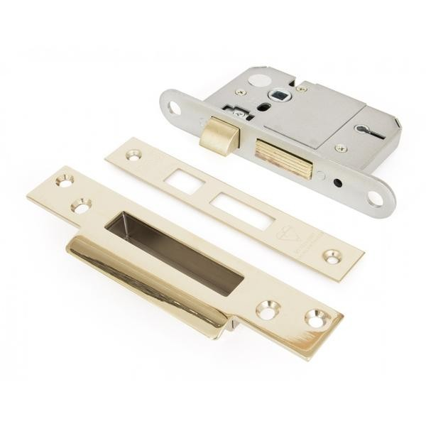 From The Anvil PVD Brass 2.5inch British Standard 5 Lever Sash-lock