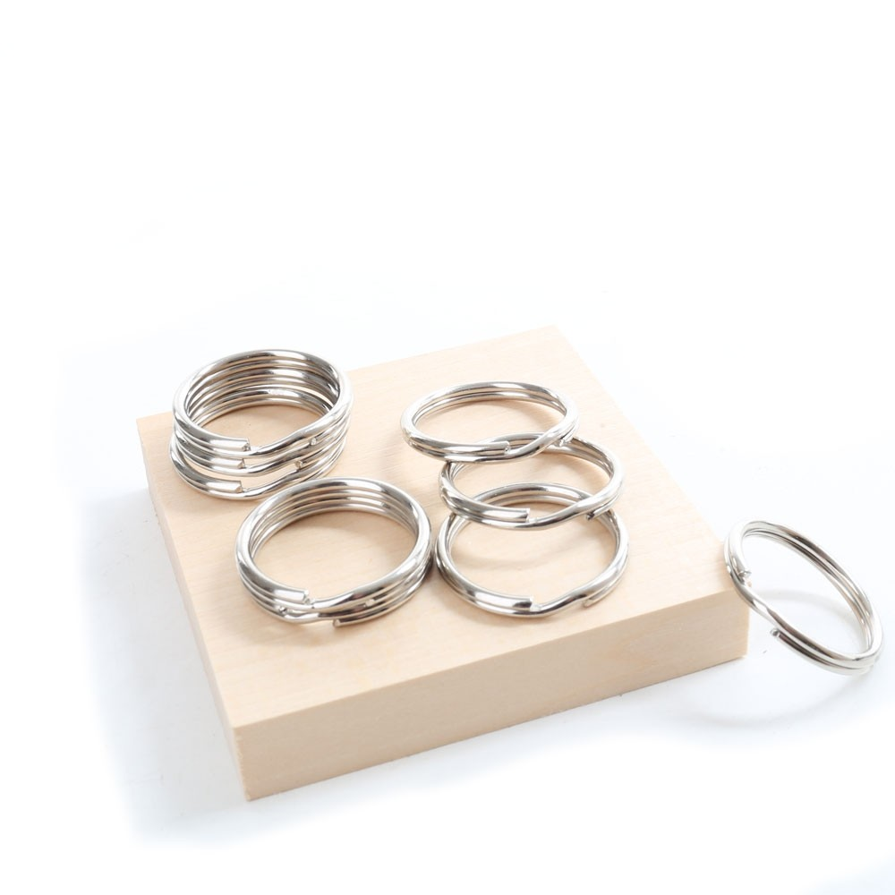 Nickel-plated Keyring Fixing Rings