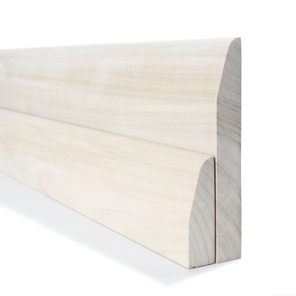 Tulipwood Chamfered Round Skirting and Architrave