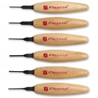 Flexcut 6 Piece 1.5 mm Mixed Profile Micro Tool Set