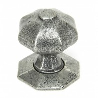 From the Anvil Pewter Patina Octagonal Mortice/Rim Knob Set