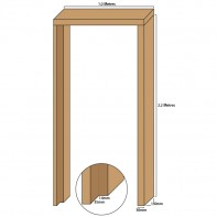 Tulipwood single door casing, 30mm thickness, rebated 35mm