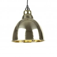 From The Anvil Hammered Brass Interior Brindley Pendant