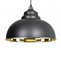 From The Anvil Black & Smooth Brass Harborne Pendant